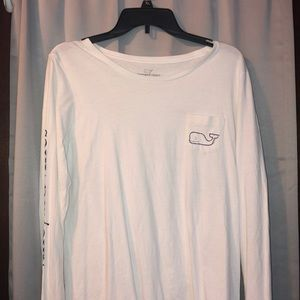 white vineyard vines long sleeve shirt